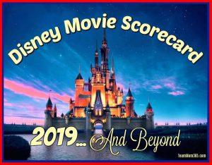 2019 Disney Movie Scorecard