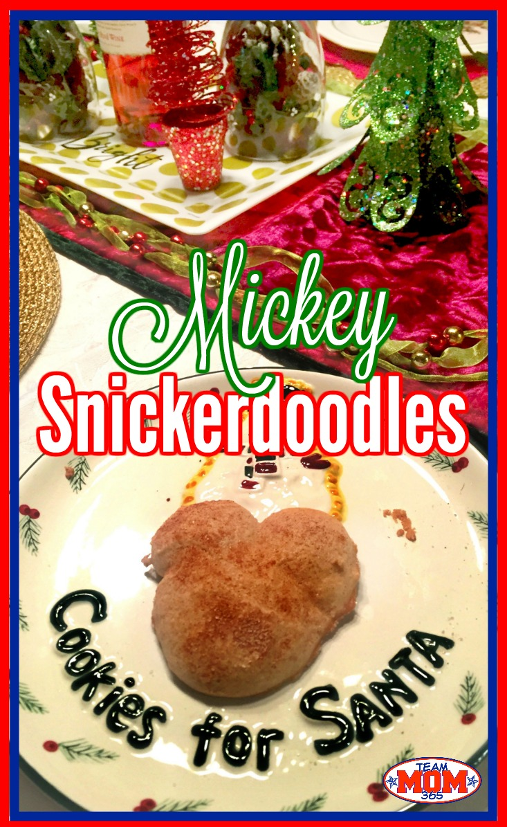 Mickey Snickerdoodle Cookies