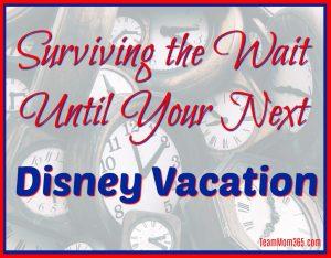 Surviving the Wait Until Your Next Disney Vacation