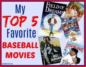 Top 5 Favorite Baseball Movies