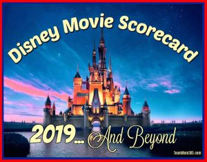2019 Disney Movie Scorecard