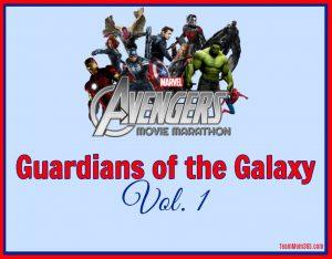 Marvel Movie Marathon Guardians of the Galaxy Vol 1