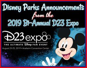 Disney Parks D23 Announcements